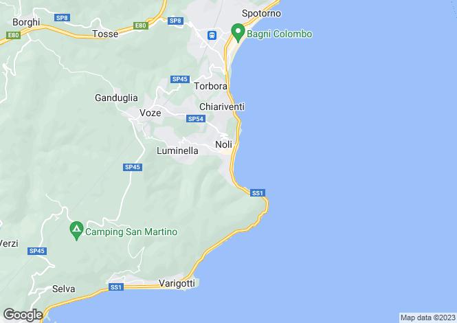 Map for Liguria, Savona, Noli