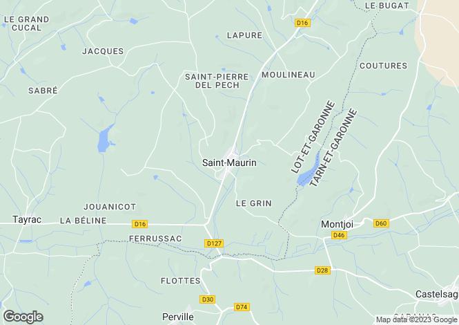 Map for Secteur: Beauville, Lot et Garonne