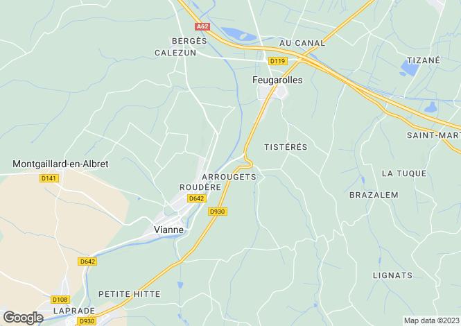 Map for Aquitaine, Lot-et-Garonne, Feugarolles