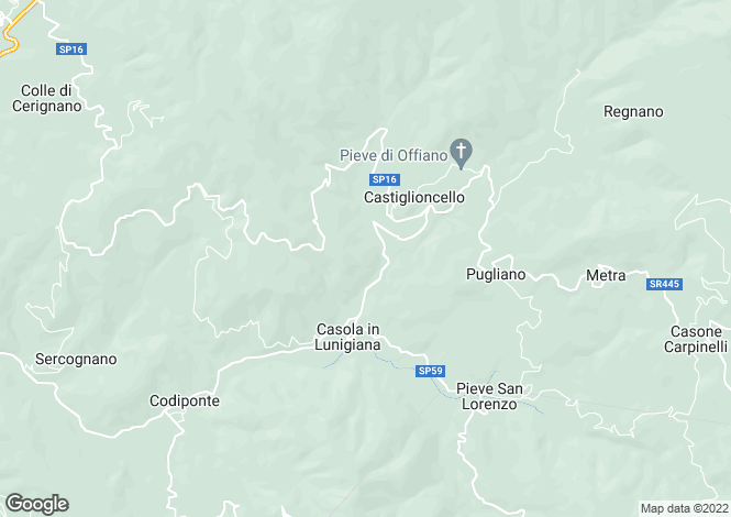 Map for Tuscany, Lunigiana, Casola in Lunigiana