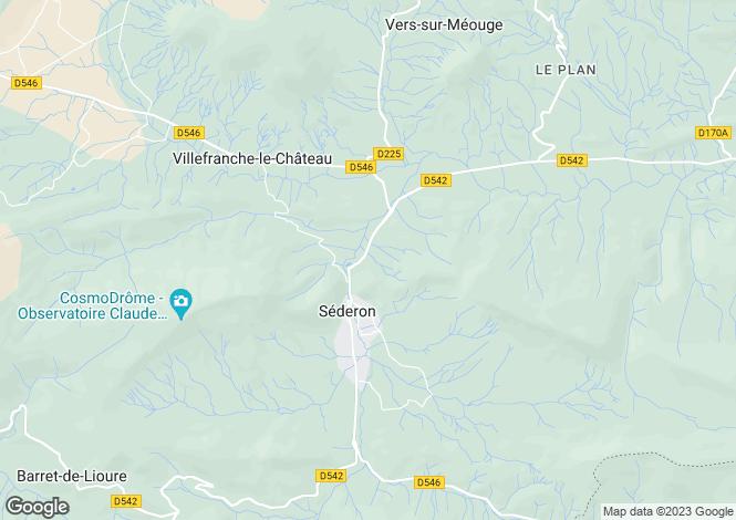 Map for Rhone Alps, Drôme, Séderon