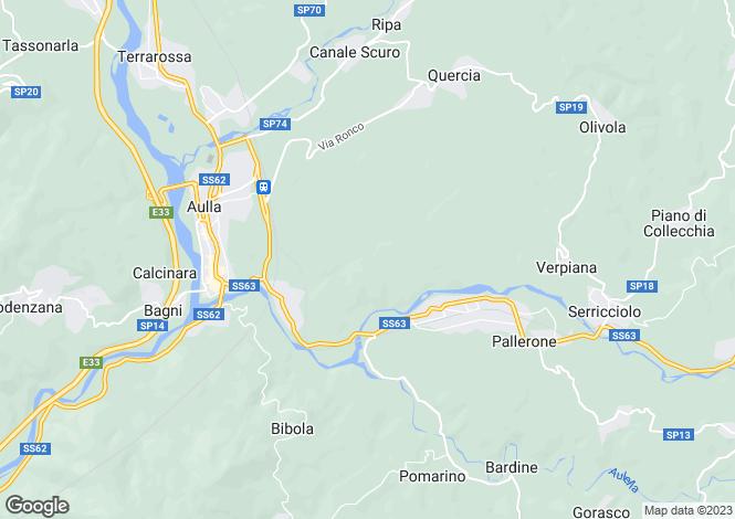 Map for Tuscany, Lunigiana, Aulla