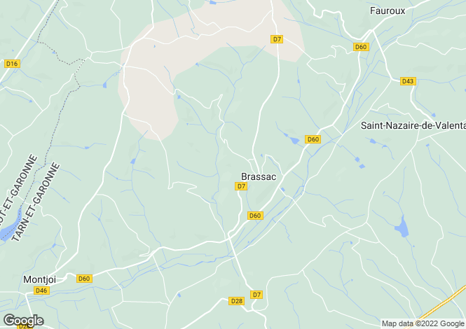 Map for brassac, Tarn-et-Garonne, France