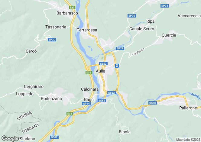 Map for Aulla, Lunigiana, Italy