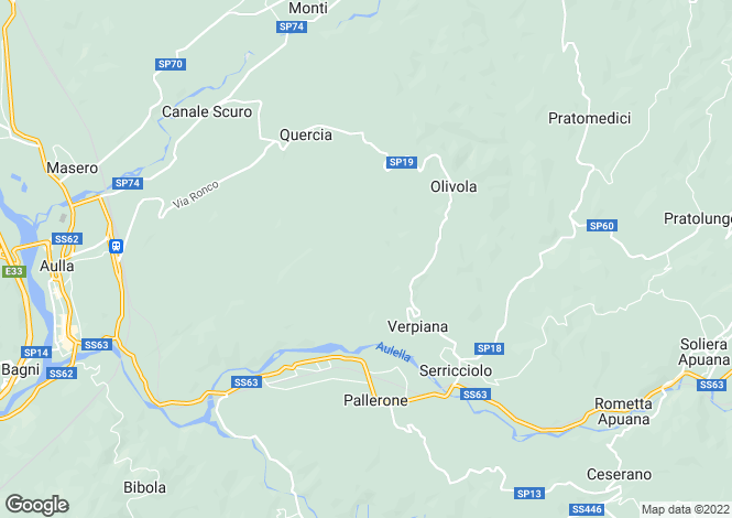 Map for Aulla, Lunigiana, Italy