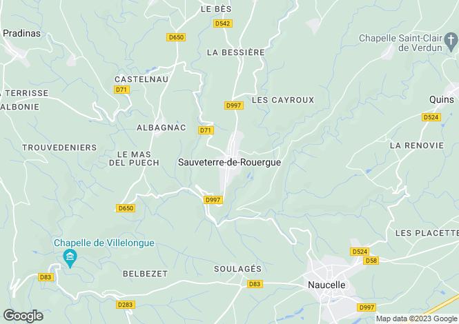 Map for Secteur: Sauveterre-de Rouergue, Aveyron