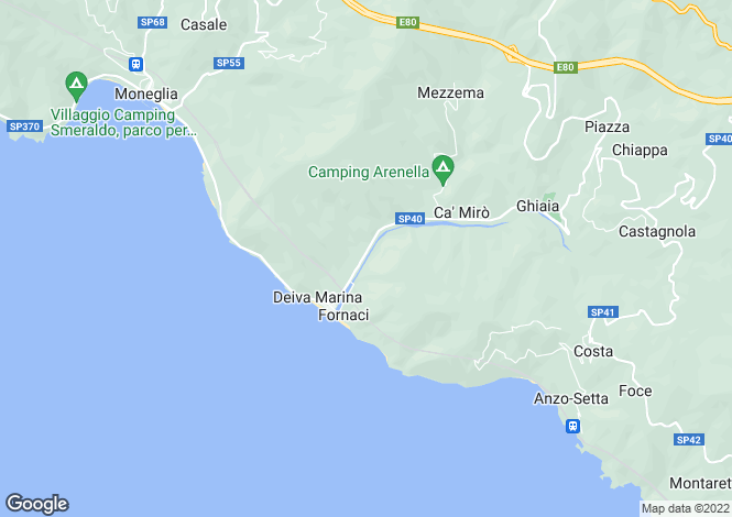 Map for Deiva Marina, La Spezia, Liguria
