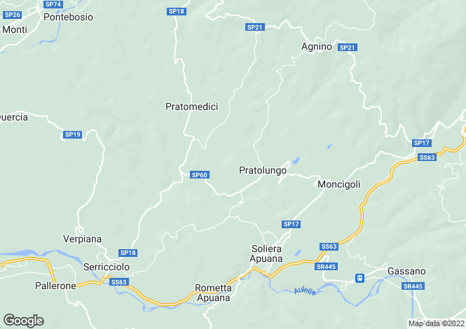 Map for Fivizzano, Lunigiana, Italy