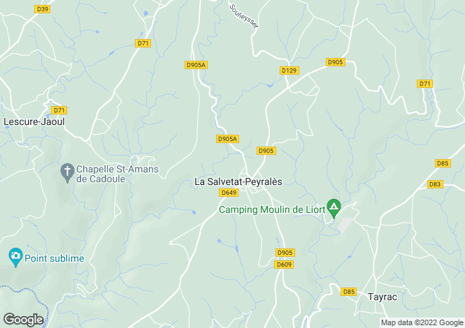 Map for Midi-Pyrenees, Aveyron, La Salvetat-Peyralès