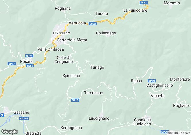 Map for Tuscany, Massa e Carrara, Fivizzano