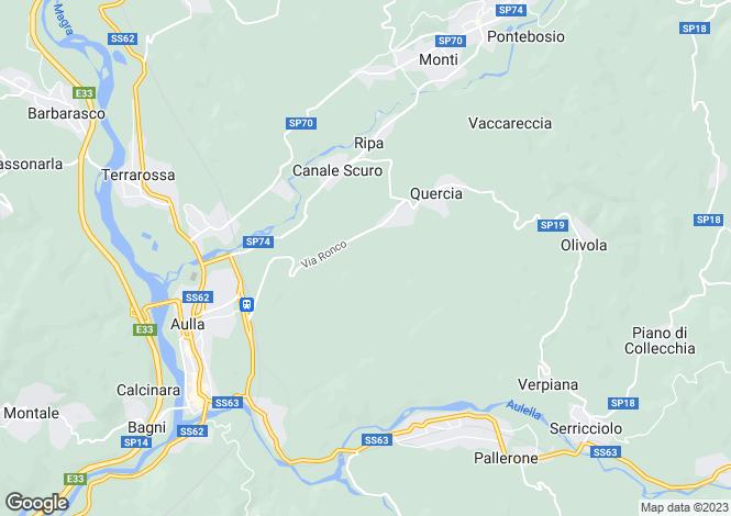 Map for Aulla, Lunigiana, Tuscany