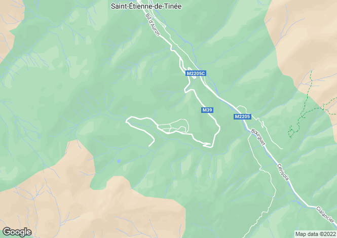 Map for Auron, Alpes-Maritimes, 06660, France