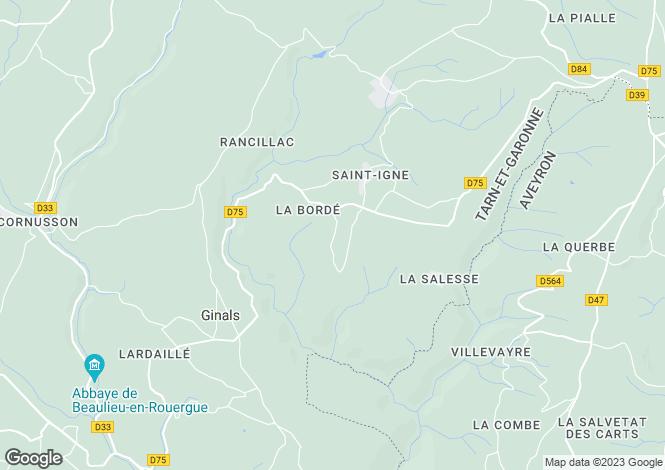 Map for Midi-Pyrénées, Tarn-et-Garonne, Ginals