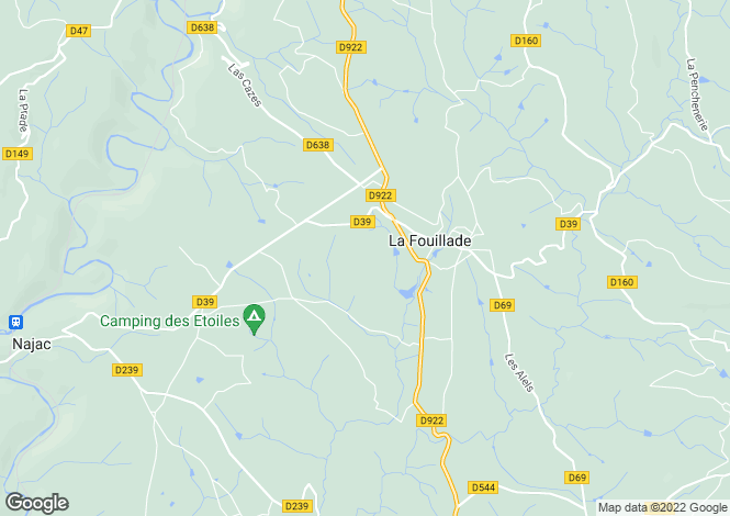 Map for la-fouillade, Aveyron, France