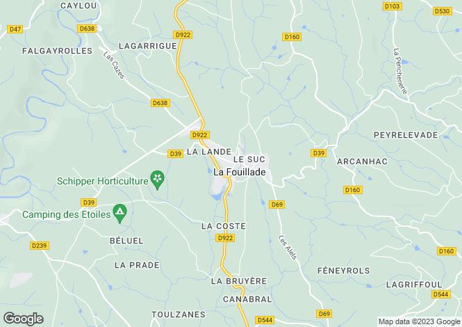 Map for Proche / Near La Fouillade, Aveyron