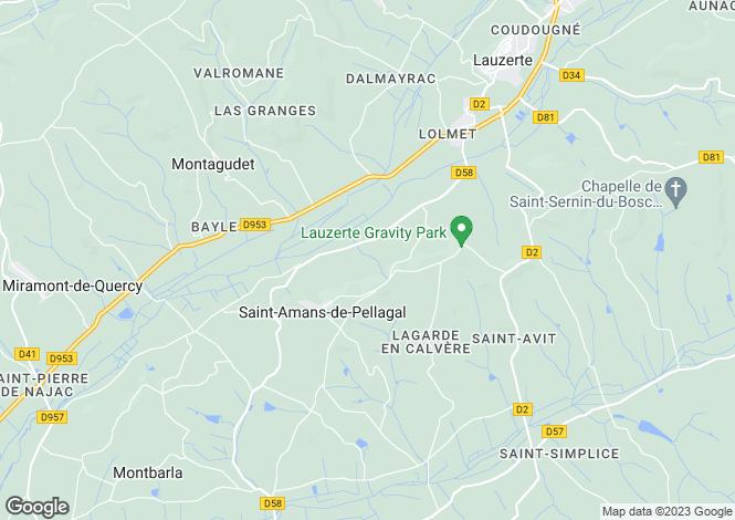 Map for st-amans-de-pellagal, Tarn-et-Garonne, France