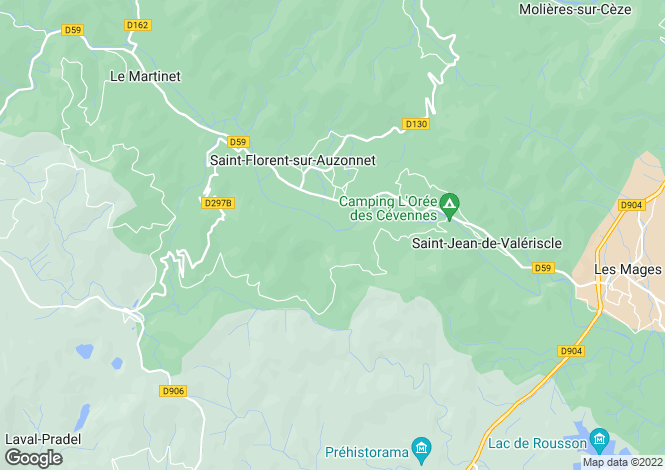 Map for st-florent-sur-auzonnet, Gard, France