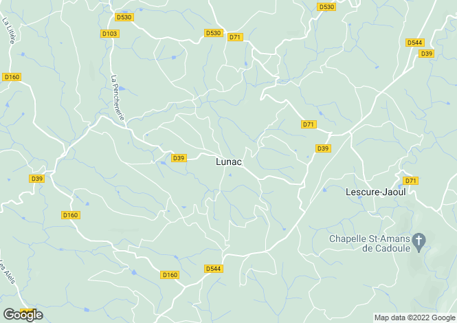 Map for Proche / Near Lunac, Aveyron
