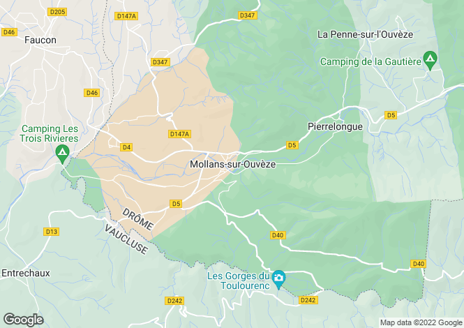 Map for mollans-sur-ouveze, Drôme, France