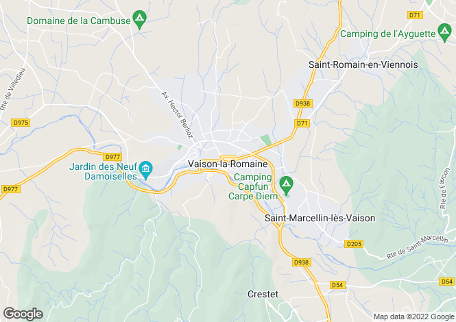 Map for Vaison-La-Romaine, Provence-Alpes-Cote d'Azur, 84110, France