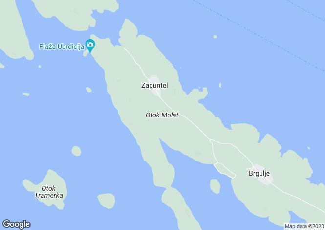 Map for Zadar-Knin, Molat, Croatia