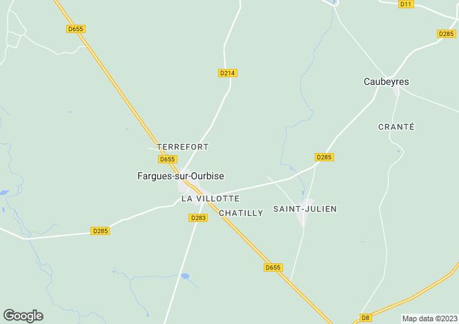 Map for fargues-sur-ourbise, Lot-et-Garonne, France