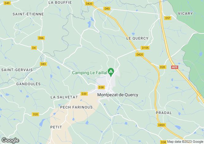 Map for caussade,-cahors, Tarn-et-Garonne, France