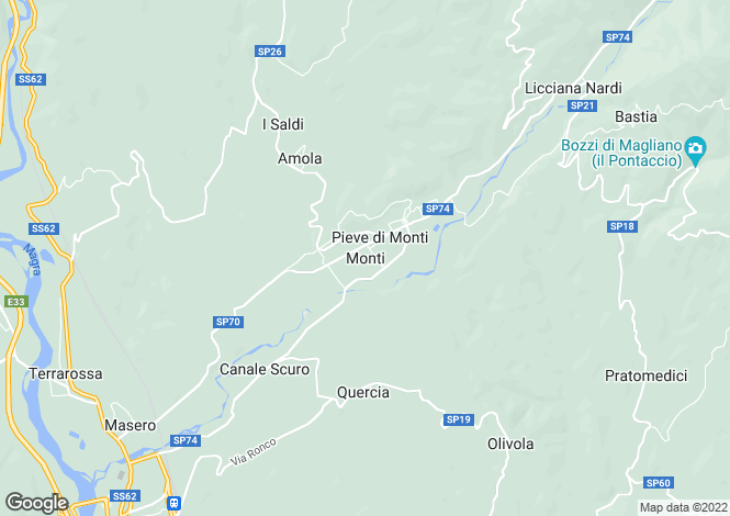 Map for Licciana Nardi, Lunigiana, Italy