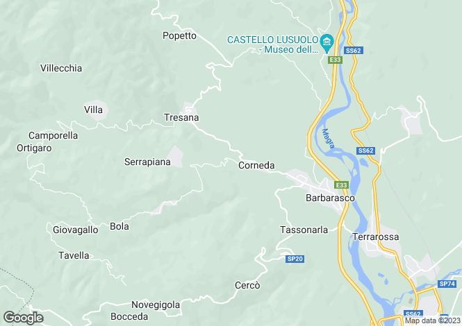 Map for Tuscany, Lunigiana, Tresana