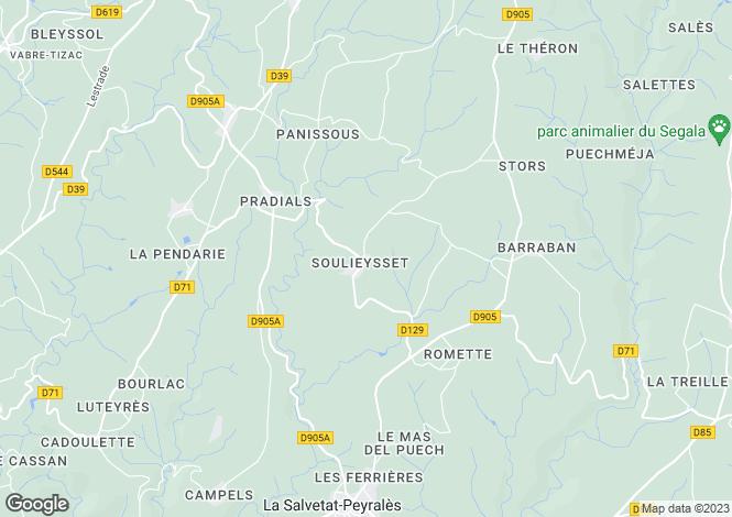 Map for La Salvetat-Peyralès, Aveyron, Midi-Pyrénées