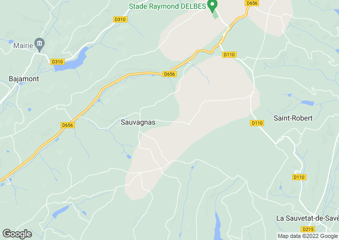 Map for sauvagnas, Lot-et-Garonne, France