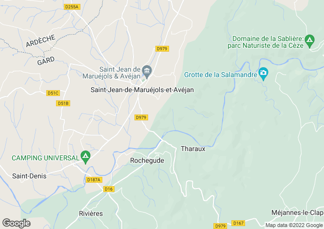 Map for Languedoc-Roussillon, Gard, Rochegude