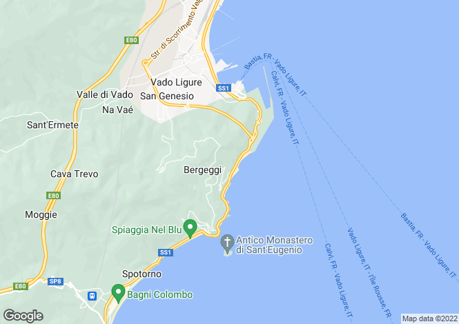 Map for Bergeggi