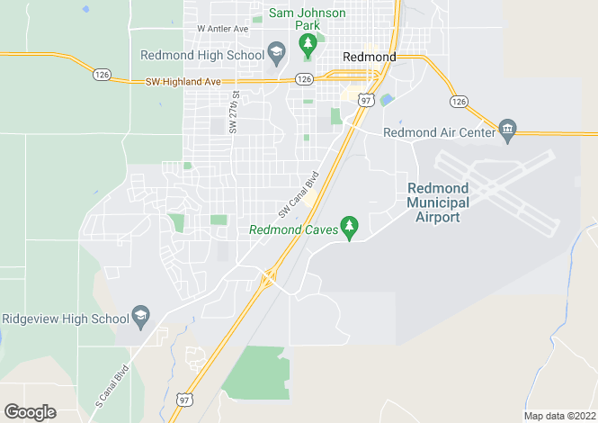Map for Oregon, Deschutes County, Redmond