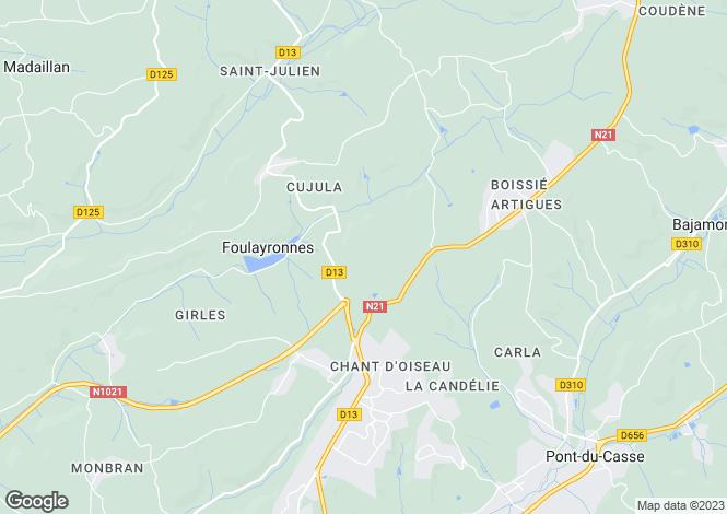 Map for Aquitaine, Lot-et-Garonne, Foulayronnes