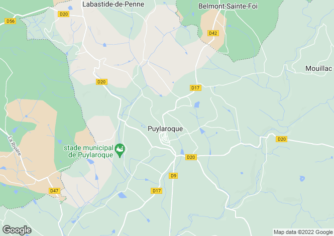 Map for puylaroque, Tarn-et-Garonne, France