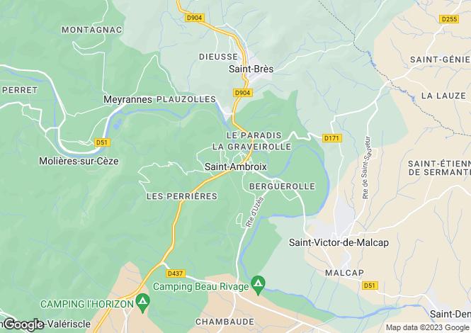 Map for Secteur: Saint-Ambroix, Gard