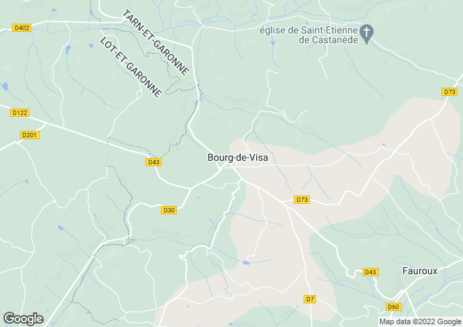 Map for Bourg-De-Visa, Tarn-Et-Garonne, 82190, France