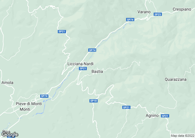 Map for Licciana Nardi, Lunigiana, Tuscany