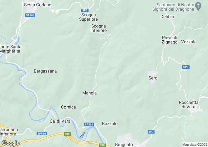 Map for Sesta Godano, La Spezia, Italy