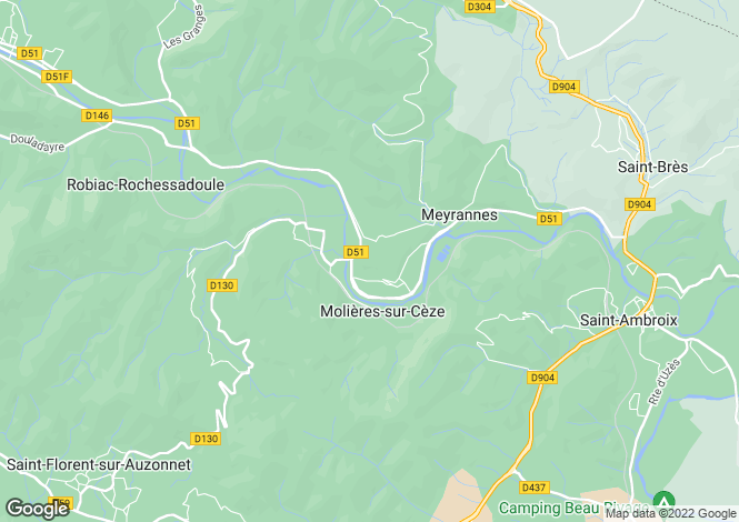 Map for les-brousses, Gard, France