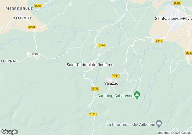 Map for uzes, Gard, France