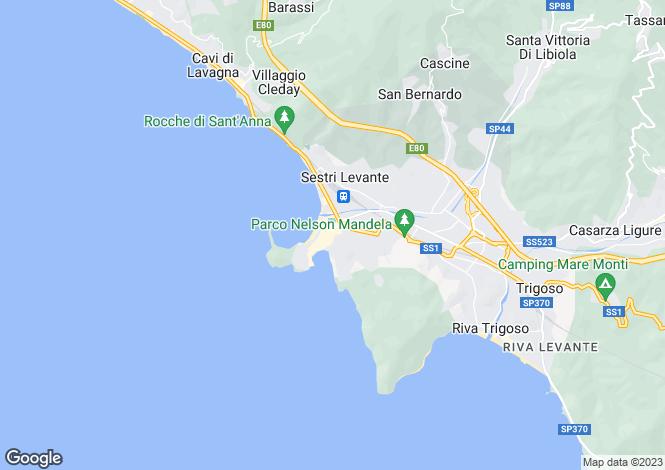 Map for Via Xxv Aprile, Sestri Levante, 16039, Italy