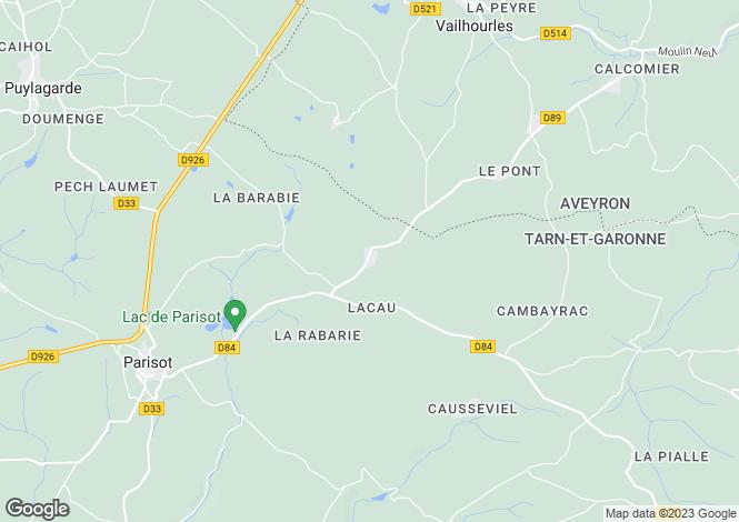 Map for Midi-Pyrénées, Tarn-et-Garonne, Parisot
