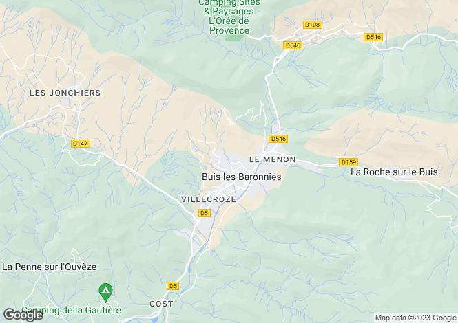Map for Rhone Alps, Drôme, Buis-les-Baronnies