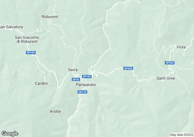 Map for Pamparato, Cuneo, Piedmont