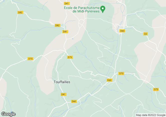 Map for touffailles, Tarn-et-Garonne, France