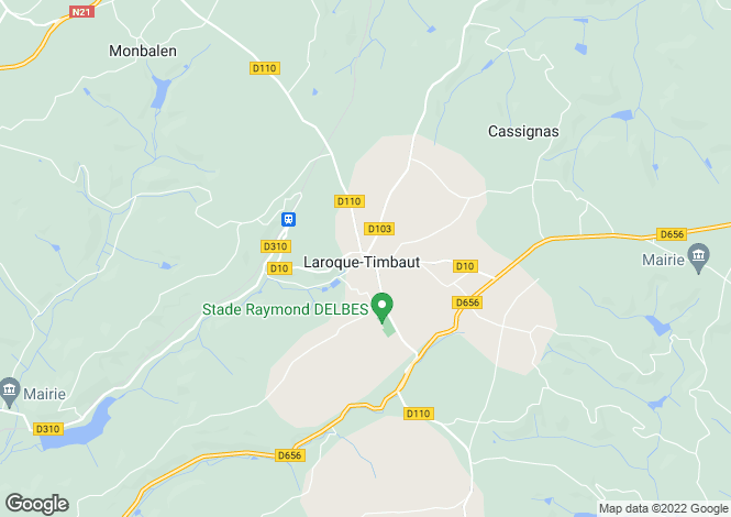 Map for Secteur: Laroque Timbaut, Lot et Garonne