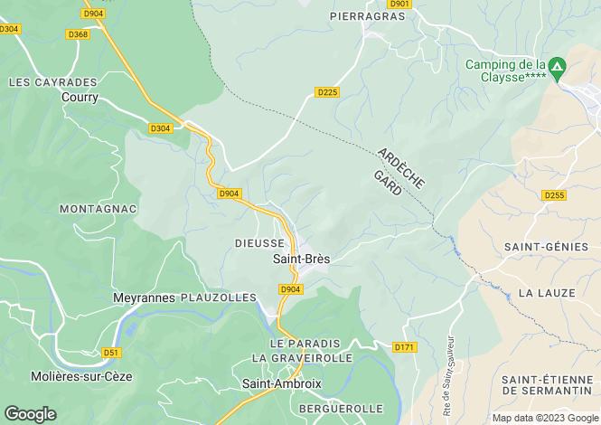 Map for st-bres, Gard, France