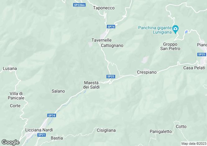 Map for Licciana Nardi, Lunigiana, Italy